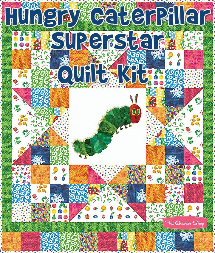 Hungry Caterpillar Superstar Quilt KitFeaturing The Very Hungry ... : eric carle quilt kits - Adamdwight.com