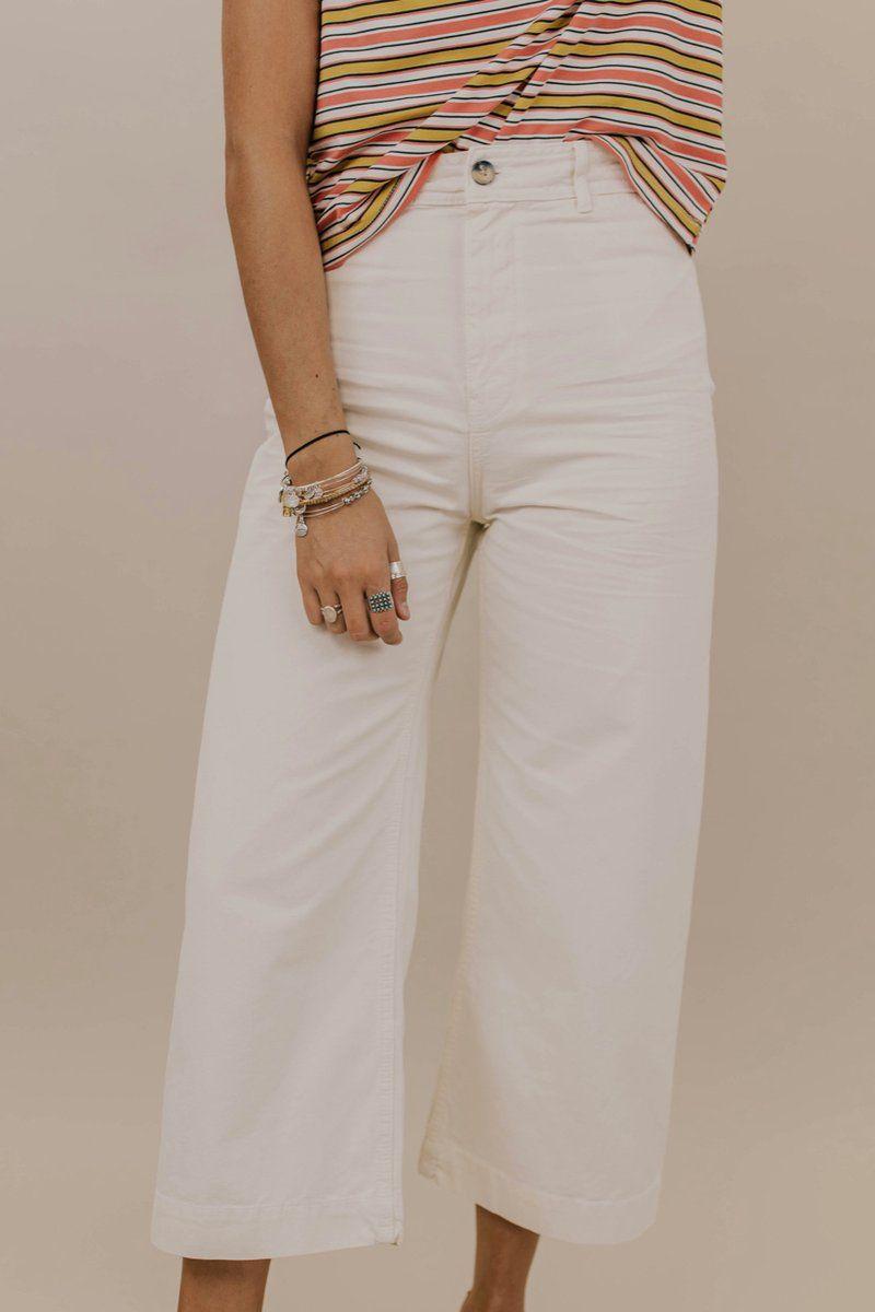 Free People Patti Pant White Wide Leg Pants Online Clothing Boutiques Fashion