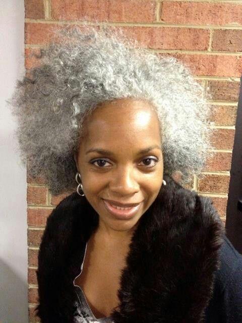 Grey Hair African American Woman: Natural Hair Styles