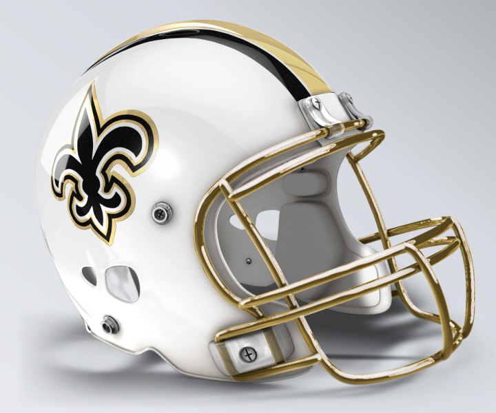 New Orleans Saints Concept Helmet Football Helmets Saints