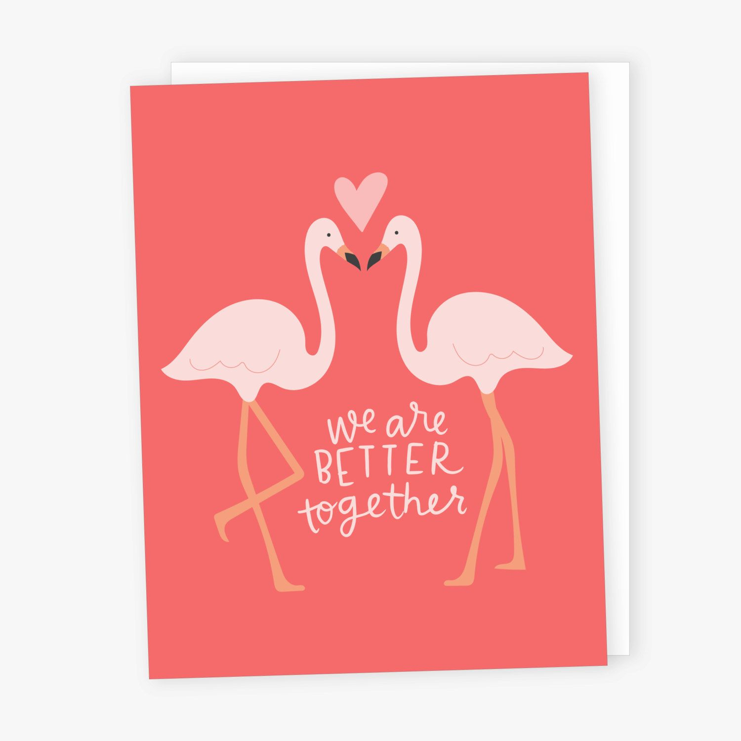 Better Together Flamingo Wedding Card | Wedding card, Flamingo and ...