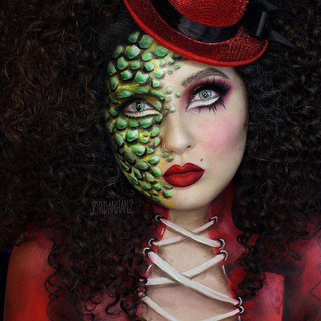Instagram Photo By Jordanhanz Hanz Via Iconosquare Face Painting Easy Animal Makeup Dragon Makeup