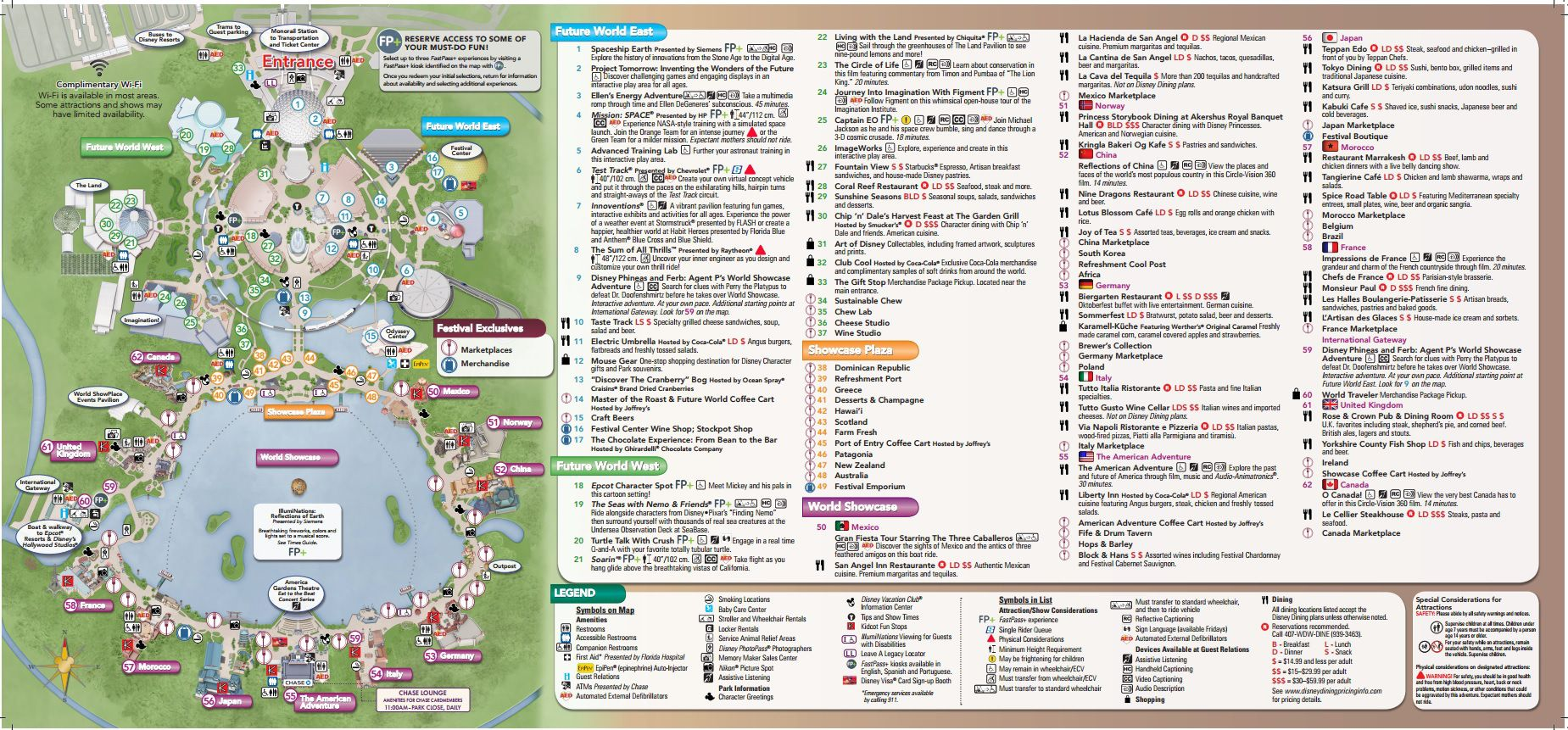 Hot Off The Presses The Complete Epcot Food And Wine Park Map