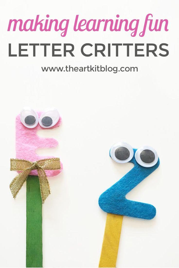 Alphabet Critters Craft Fun Educational Tool Craft Activities