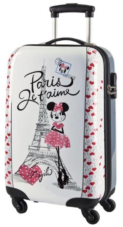 Questo Bellissimo Trolley Rigido con Minnie dà un tocco di colore e  allegria alle tue vacanze e6f1b9addba9