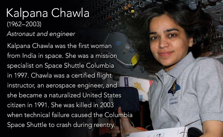 Kalpana Chawla(1962–2003) Astronaut and engineer Kalpana Chawla ...