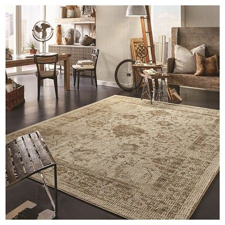 Vintage Distressed Area Rug