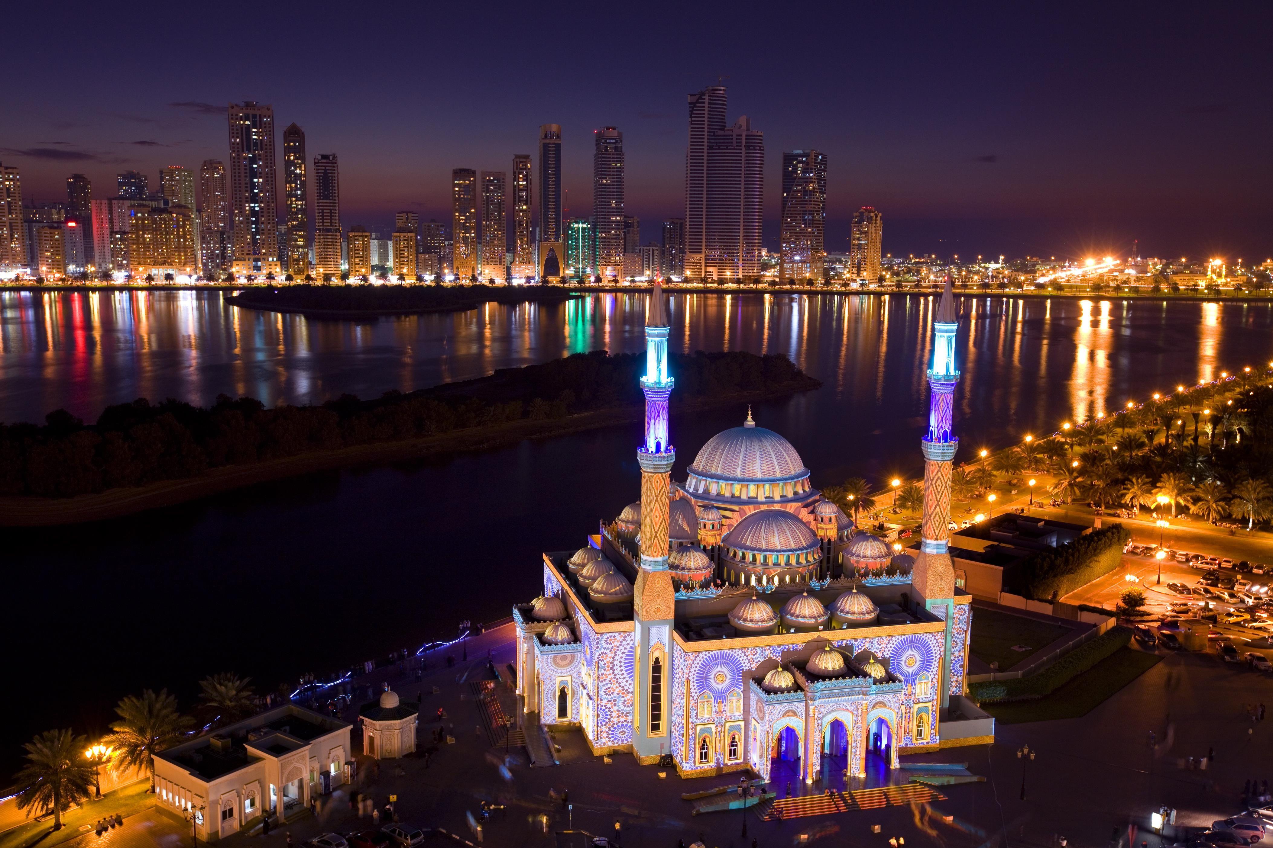 Fourth Edition Of Sharjah Light Festival Starts Tonight Mosque Islamic Culture Sharjah