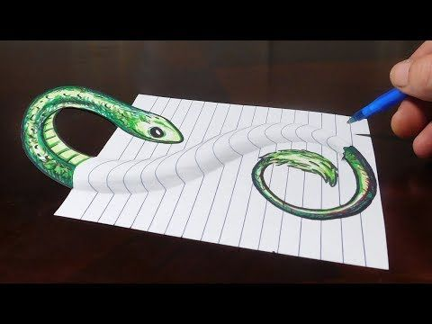 How To Draw 3d Steps In A Hole Line Paper Trick Art Youtube