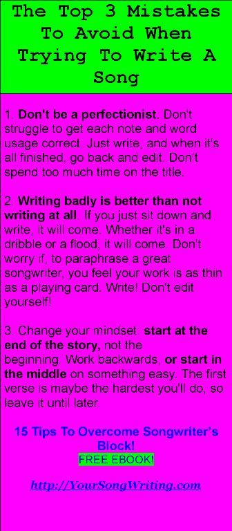 15 Tips To Overcome Songwriter S Block Free Ebook Http Yoursongwriting Com Music Writing Writing Lyrics Inspirational Songs