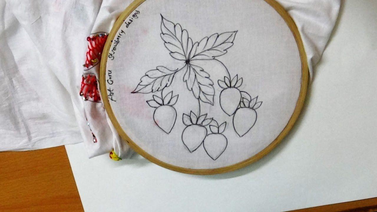 Sketch Art Simple Embroidery Strawberry Design Simple Embroidery Embroidery Art Sketches,Unique Modern Sofa Set Designs For Living Room