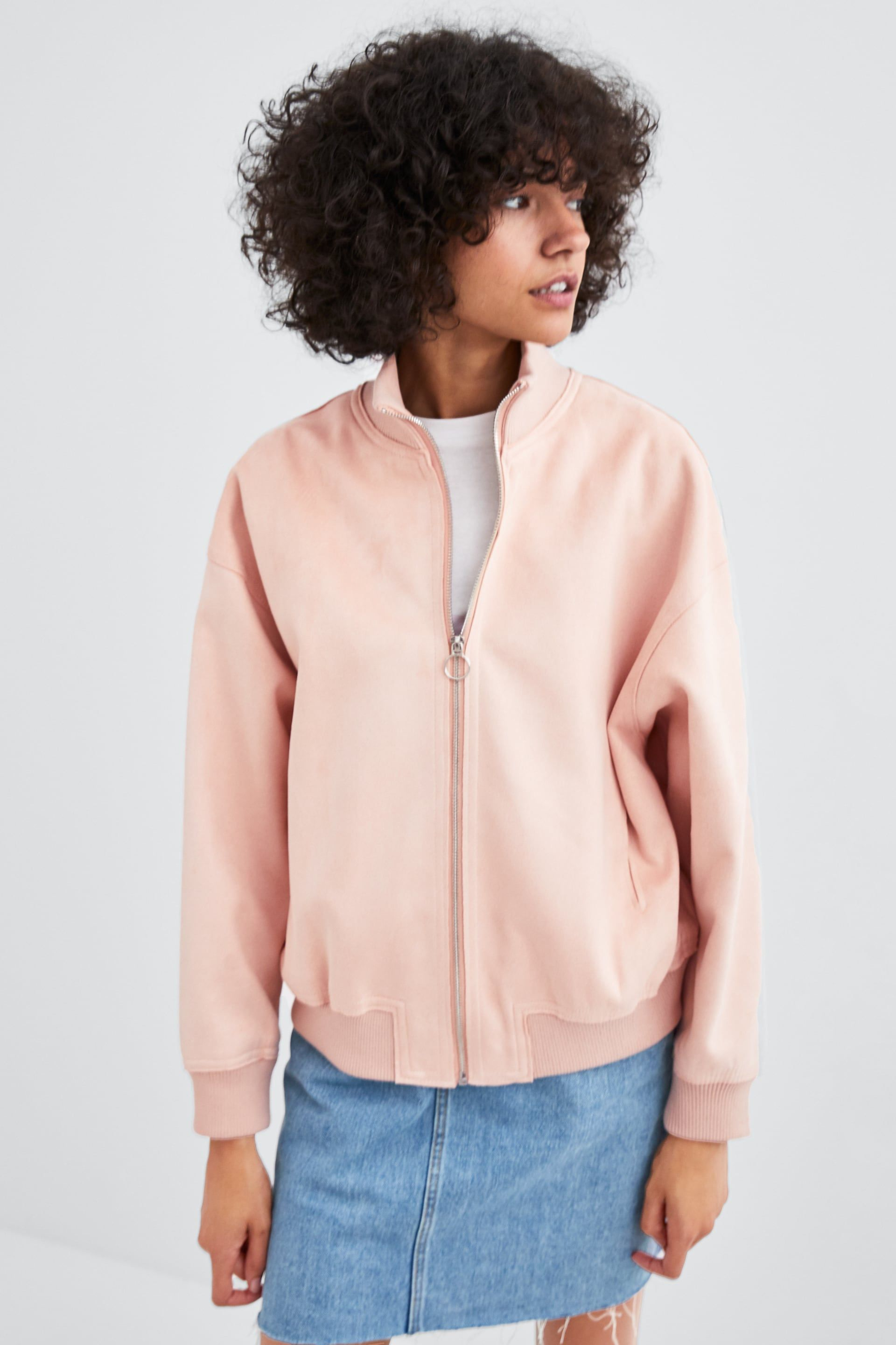 Image 2 Of Faux Suede Bomber Jacket From Zara Suede Bomber Jacket Suede Bomber Jackets [ 2880 x 1920 Pixel ]