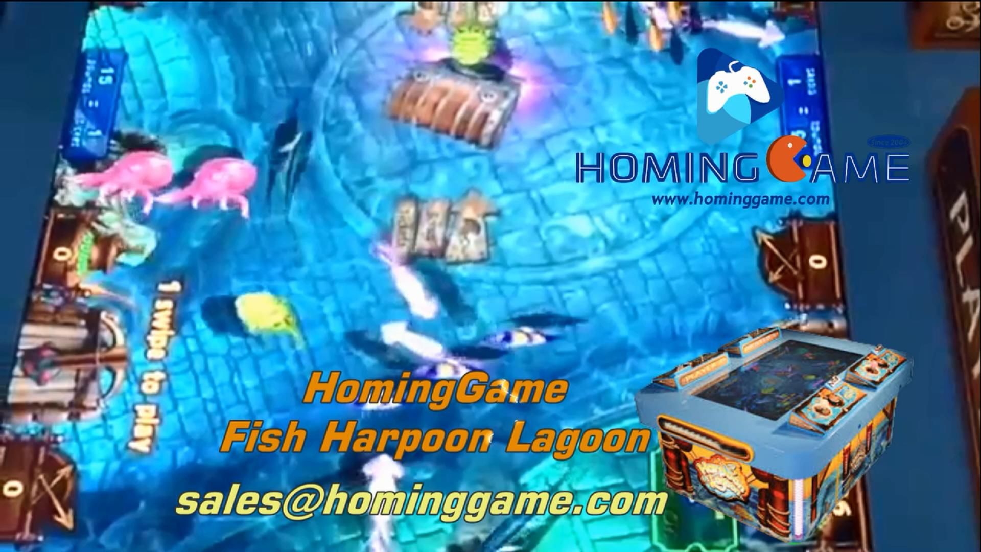 2019 Hominggame Fish Harpoon Lagoon Fishing Redemption Game