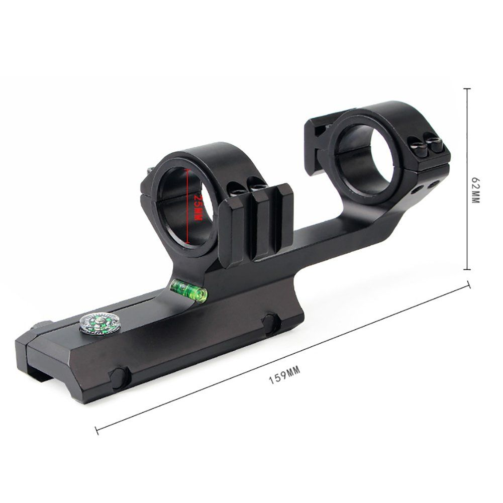 Balight Rail Scope Mount Double Rings Metal Bubble Levels Holder Hunting Accessories With Compass Visit The Scope Mount Scope