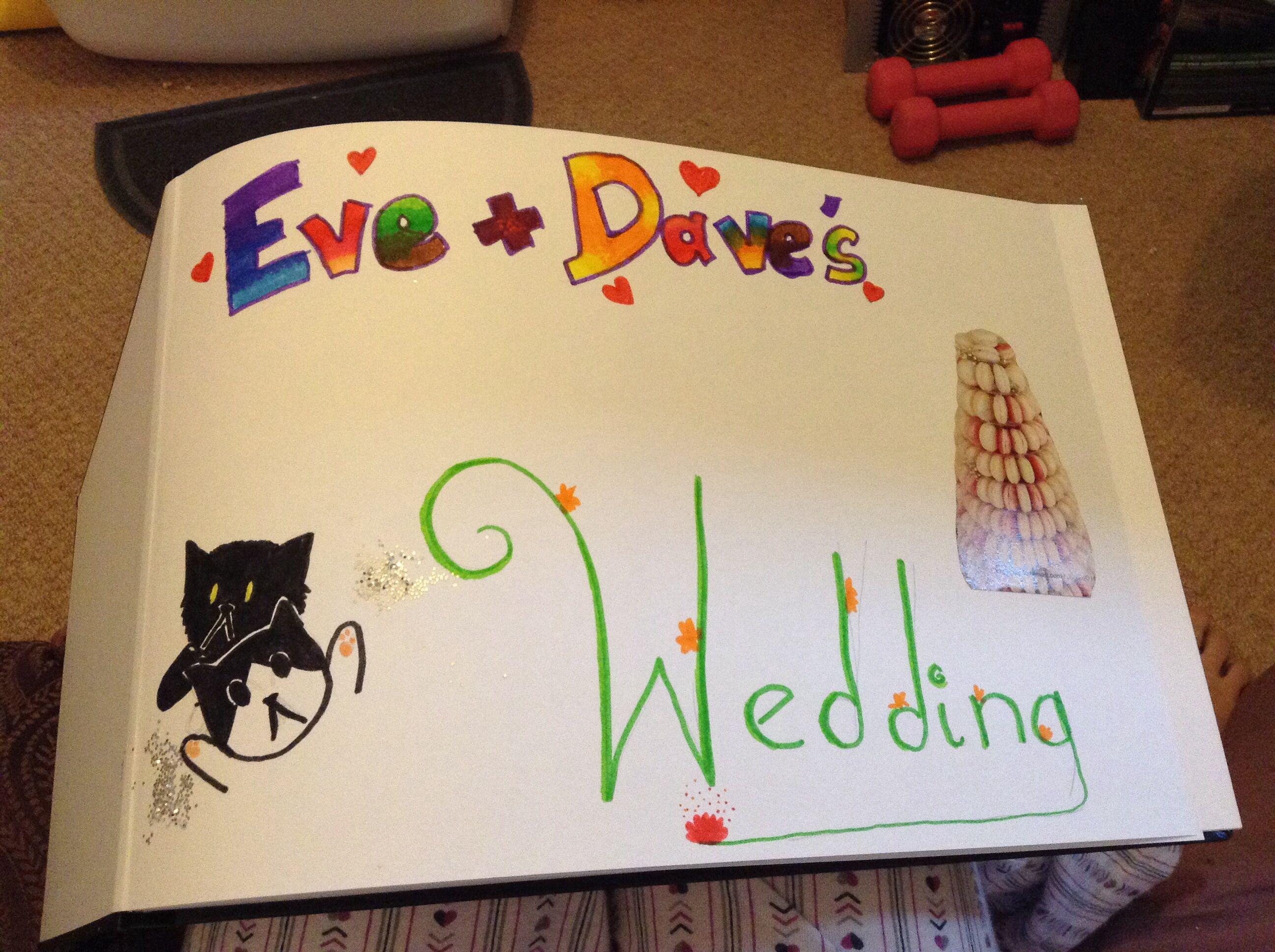 Starting a  wedding scrapbook!
