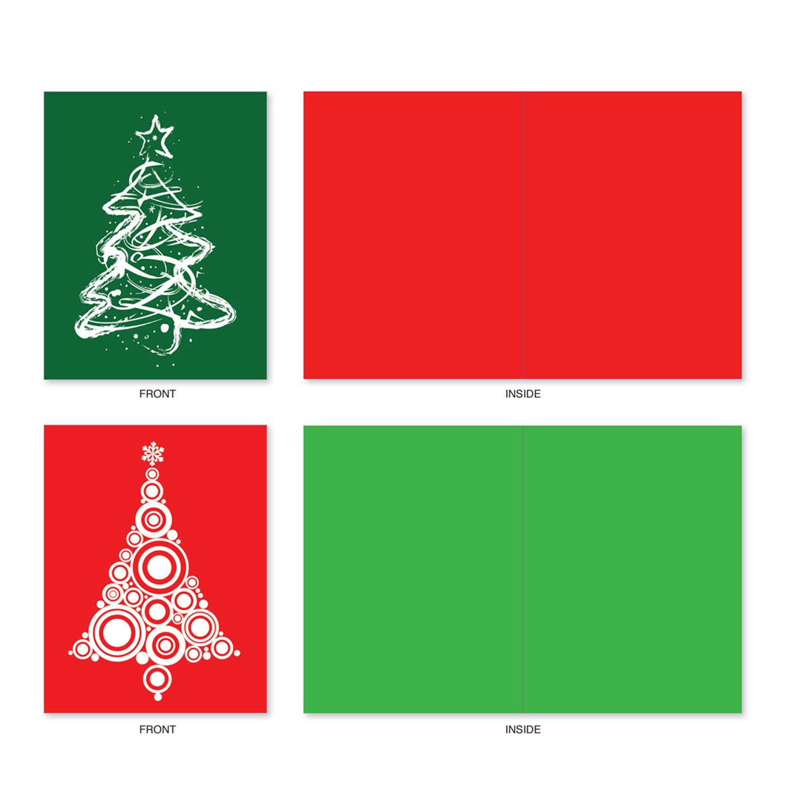 10 Assorted A Fanciful Firsa Blank All Occasion Cards With Envelopes Mini 4a X 5 25a Note Cards With M Green Stationery Modern Christmas Tree Note Cards