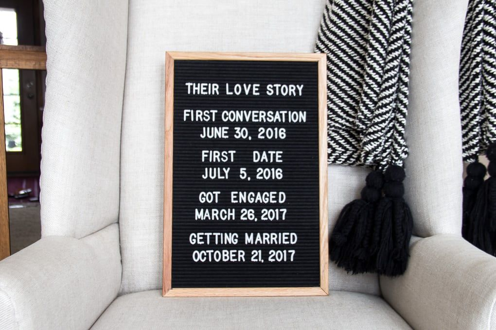 image result for wedding letter board sayings