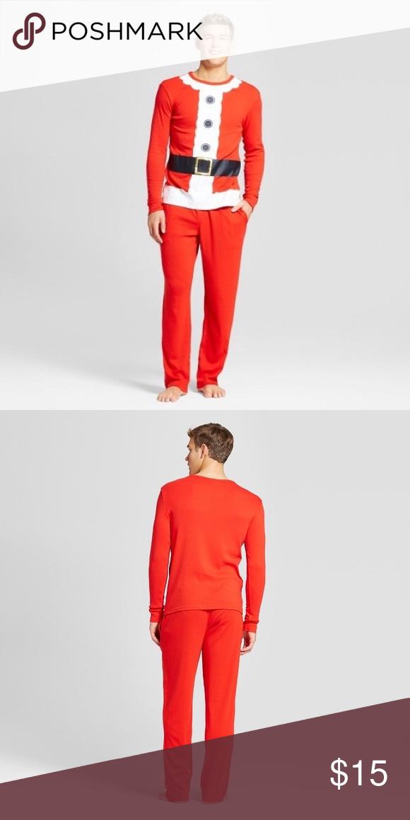 Target Men's 2 piece Christmas Santa Pajama Set Clothes