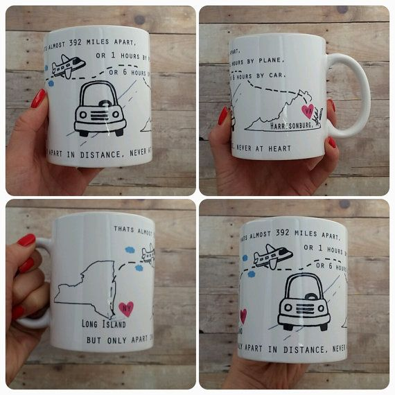 Long Distance Mug State To State Graduation Gift Or Moving