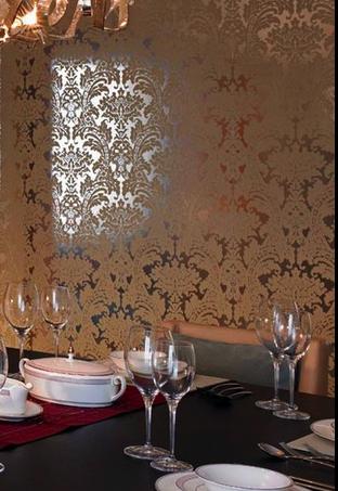 Diana uk damask velvet flocked wallpaper 01 cream on silver wflo 2017 diana uk flock - Cream flock wallpaper ...