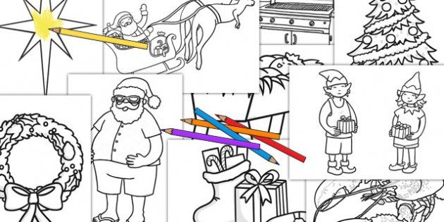 australia christmas colouring pages