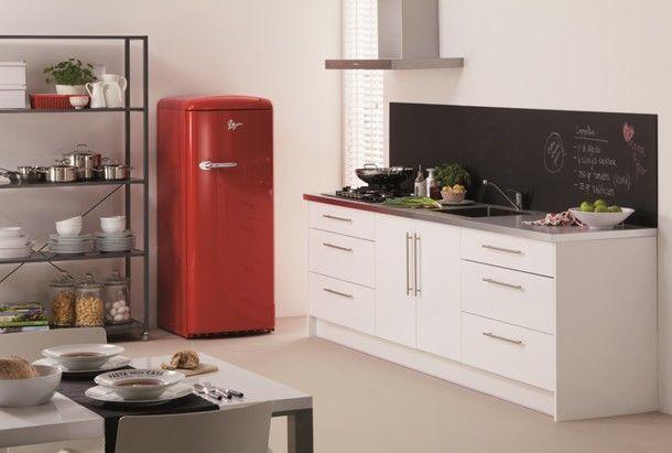 Retro Kühlschrank Pelgrim : Krijtbord verf boven aanrecht de nieuwe retro koelkast van