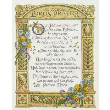The Lord's Prayer Counted Cross Stitch Kit | Needlecraft | Counted