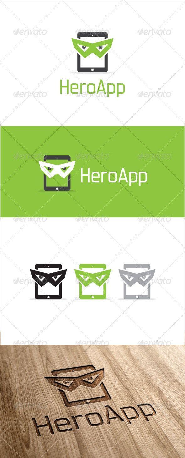 Hero App Logo Template — PSD abstract app