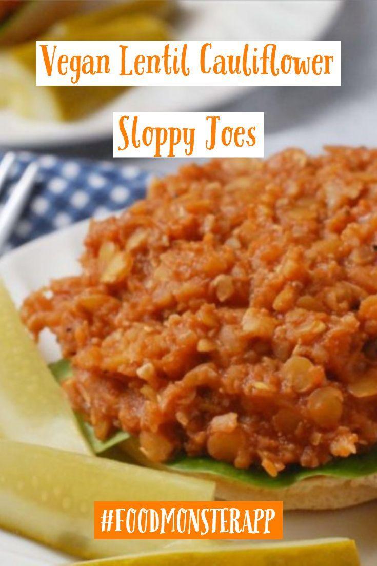 Lentil Cauliflower Sloppy Joes Vegan In 2019 Best Vegan