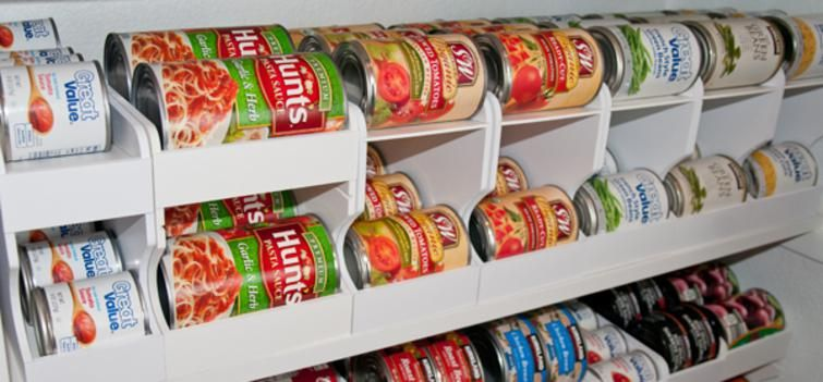 Pantry Organization Using Can Organizers By Pantry Maid To Provide The Best  Food Storage Rotation System