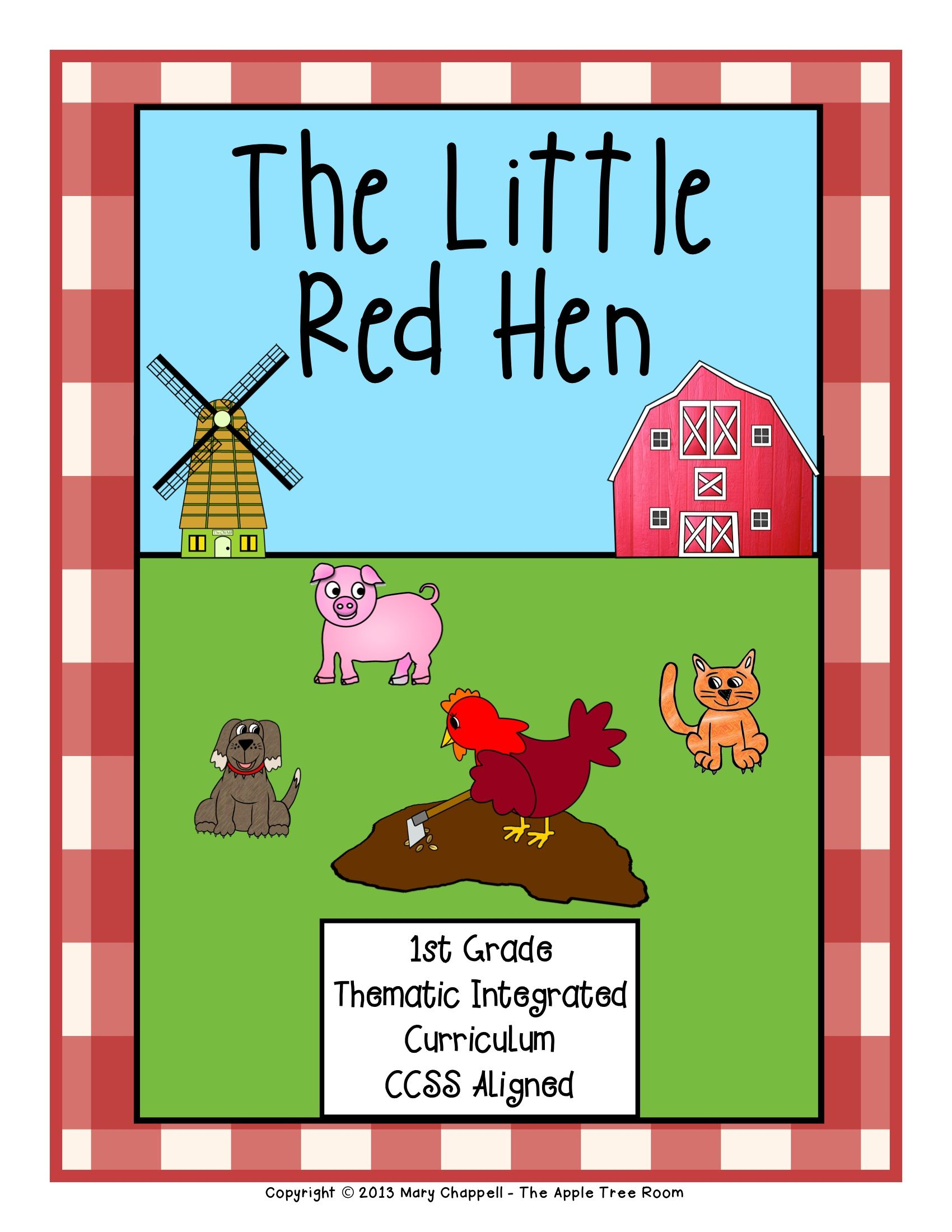 The Little Red Hen Activities With Ccss Reading Writing Math Little Red Hen Little Red Hen Activities Red Hen