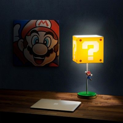 14in Nintendo Super Mario Block Table Lamp Products In