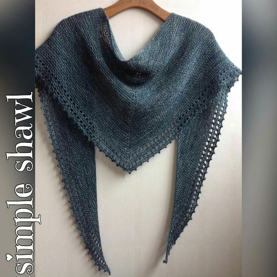 http://www.ravelry.com/patterns/library/simple-shawl-8 | knitting ...