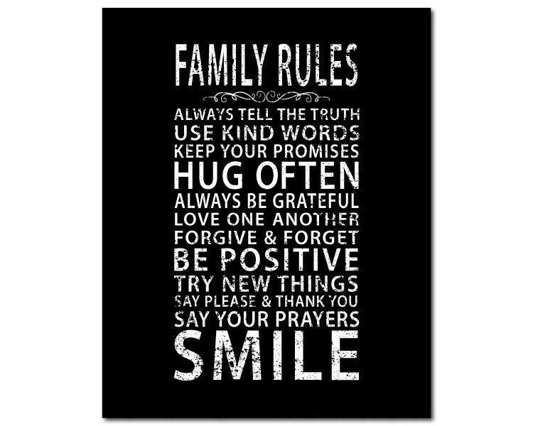Canvas Art - Family Rules - inspirational wall art - subway art - typography word art  sc 1 st  Pinterest & Canvas Art - Family Rules - inspirational wall art - subway art ...