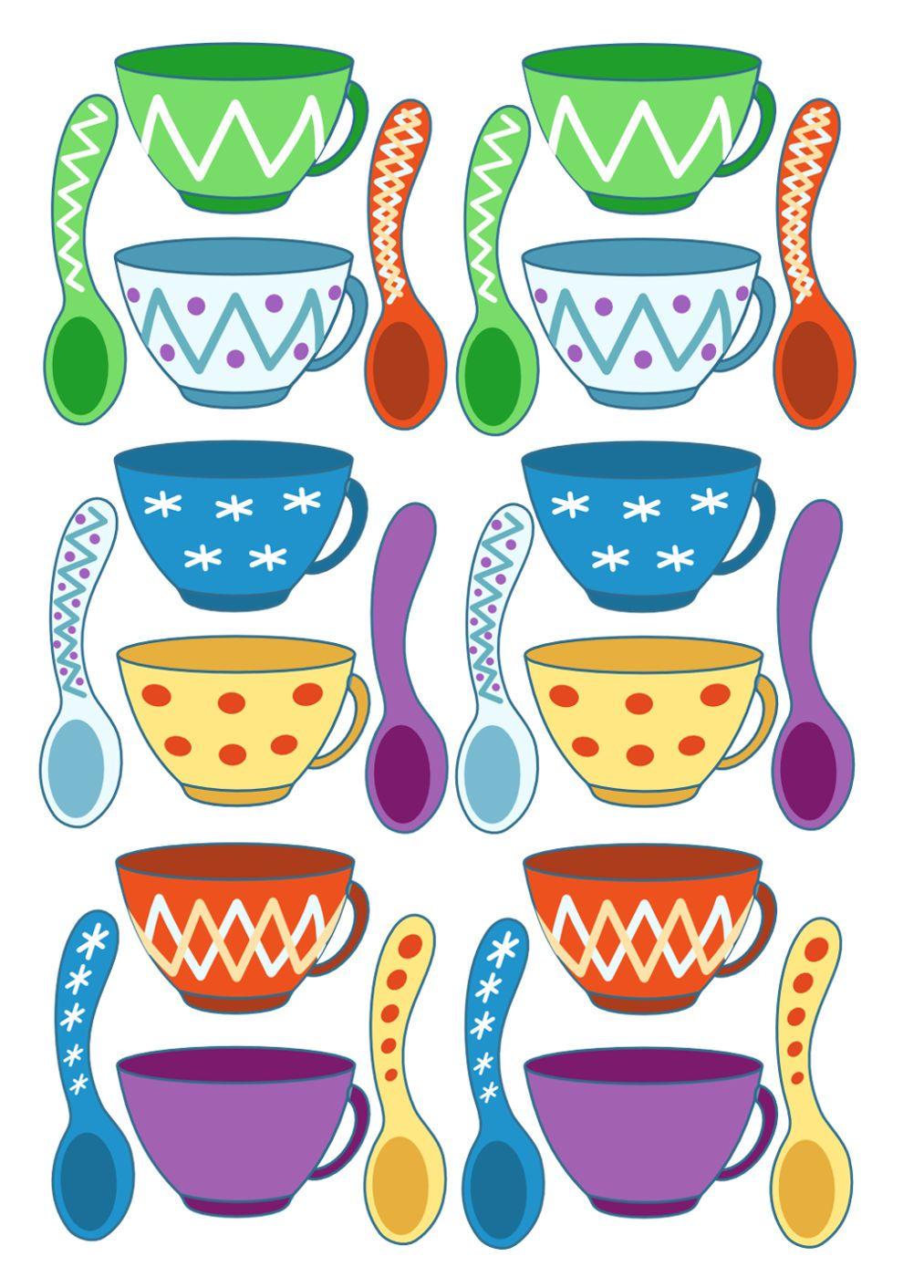 цветные картинки посуды для малышей это
