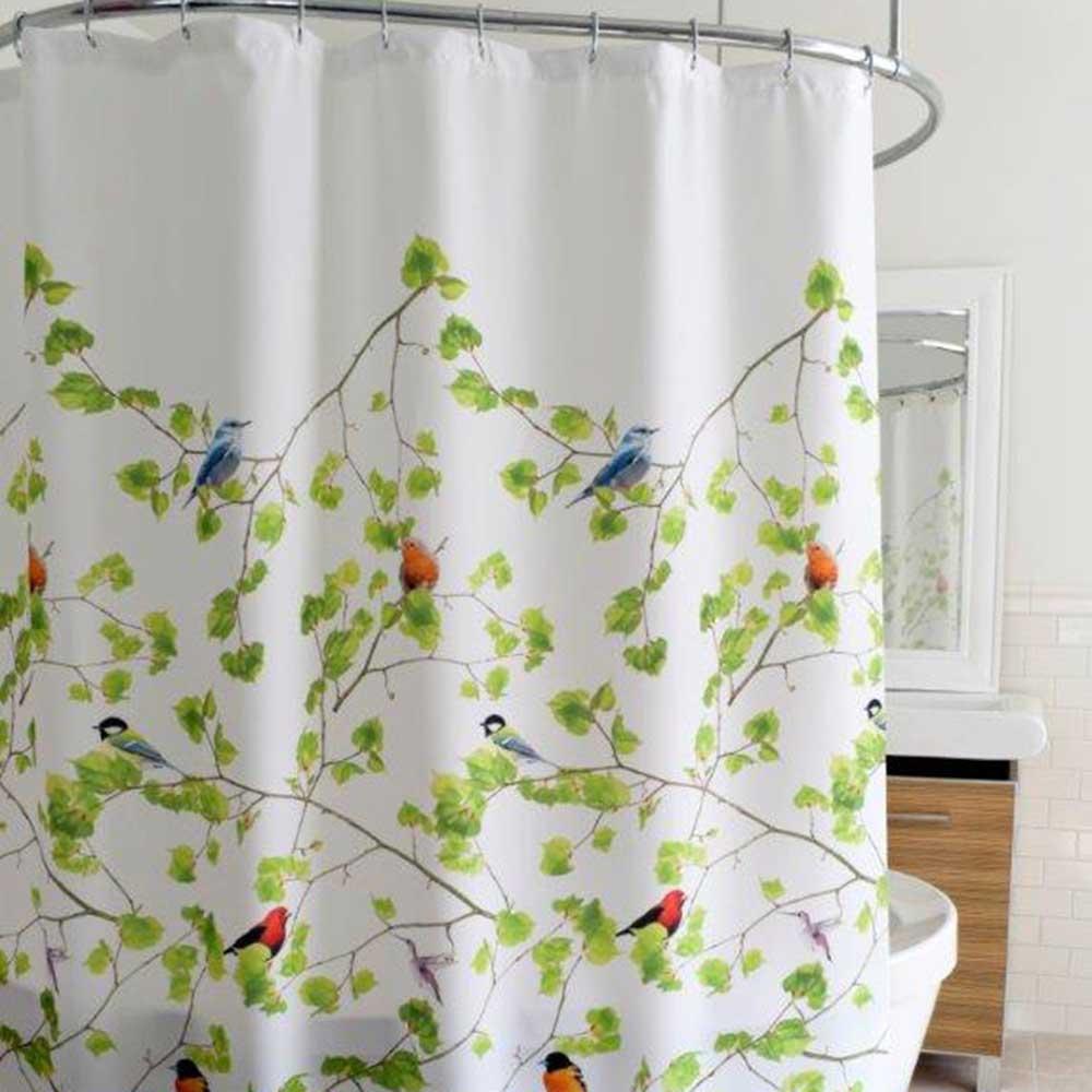 Terrasse Fabric Shower Curtain Fabric Shower Curtains Shower
