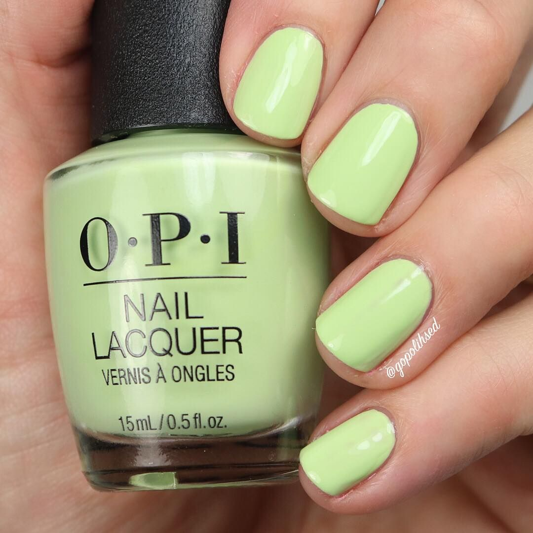 Laurie On Instagram How Does Your Zen Garden Grow From The New Opi Tokyo Collection I Have A Spring Nail Polish Opi Nail Polish Colors Green Nail Polish