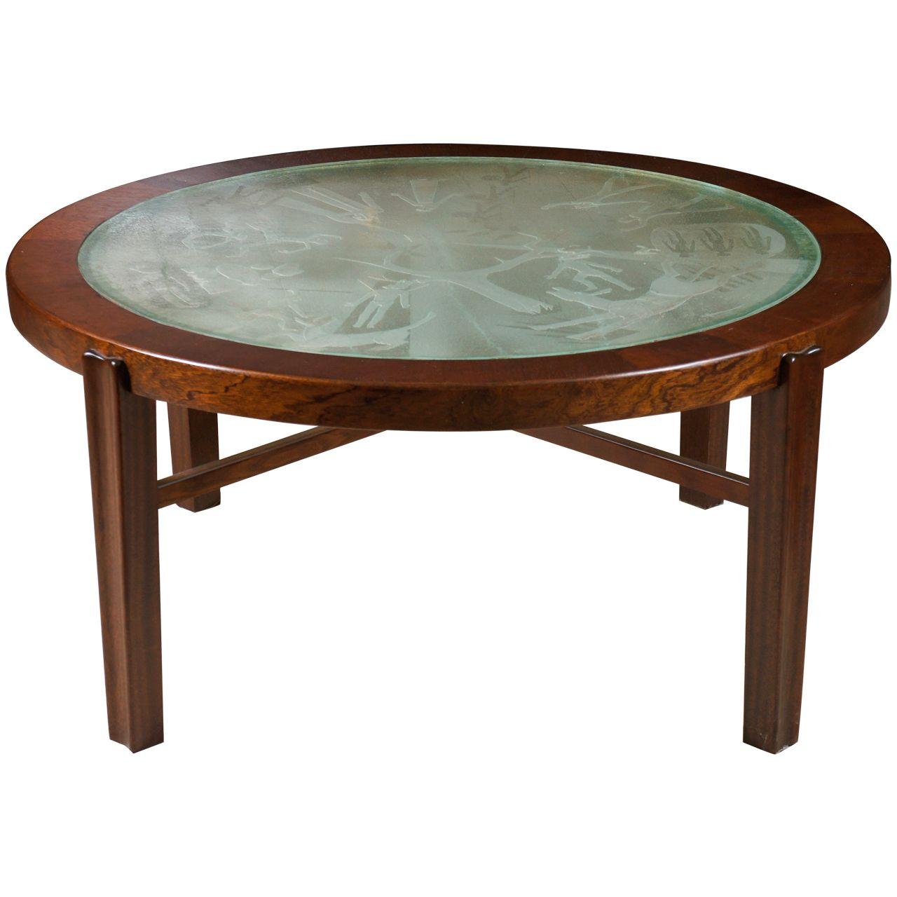 A Fine Swedish Low Coffee Table With Engraved Glass Top Low Coffee Table Glass Top Table Glass Top [ 1280 x 1280 Pixel ]