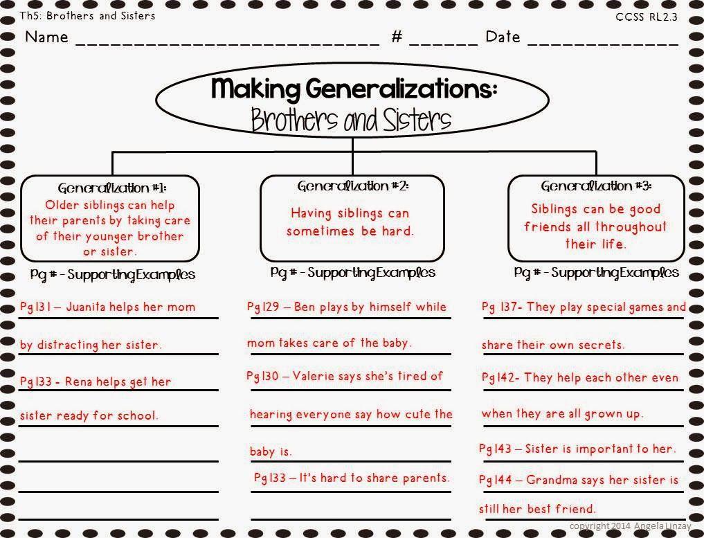 Lights Camera Teach Thinking Maps Reading Graphic Organizers Generalizations