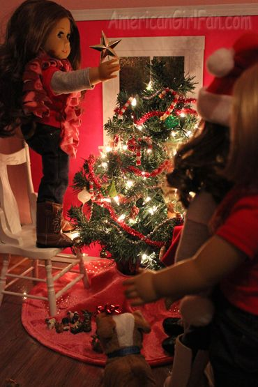 at american girl fan the doll decorated their christmas tree - Christmas Decorations For American Girl Dolls