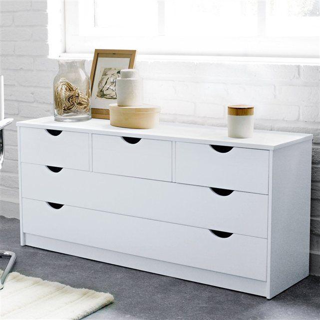 commode 5 tiroirs pin massif crawley la redoute interieurs chambre pinterest pin massif. Black Bedroom Furniture Sets. Home Design Ideas