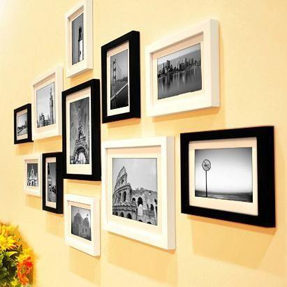 Visit to Buy] 11 Pieces/Set Cheap Photo Frames Set Wood Picture ...