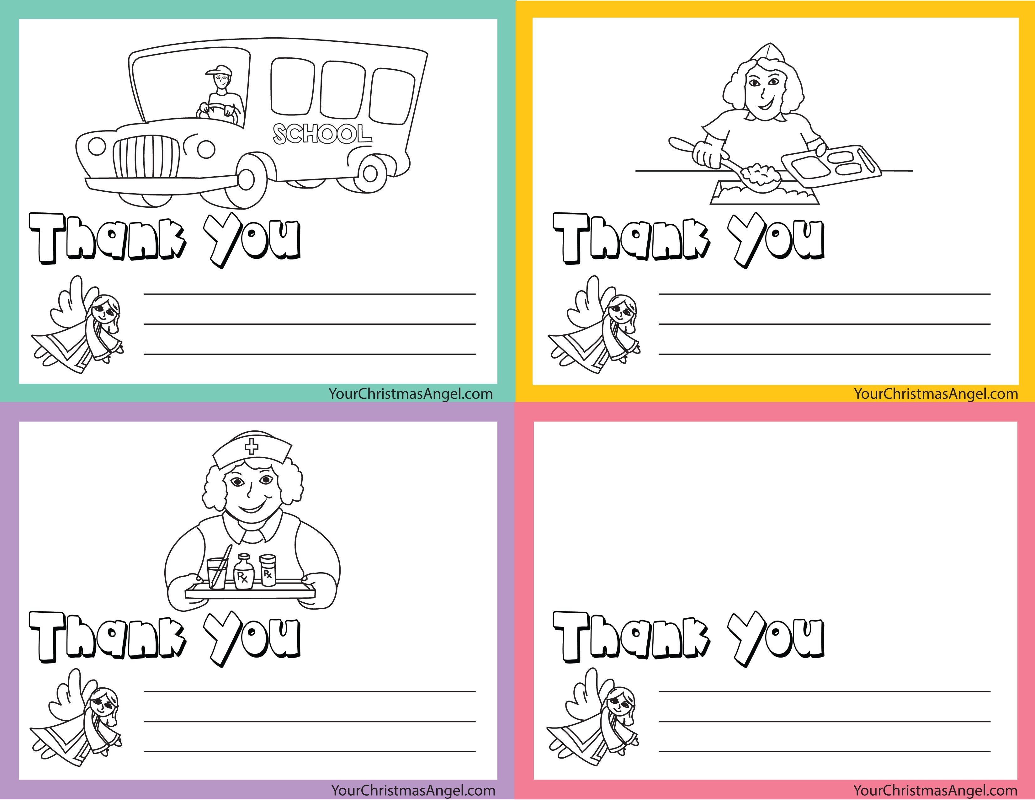 image about Bus Driver Thank You Card Printable named Thank on your own playing cards for those people in just our college plans!! Best for