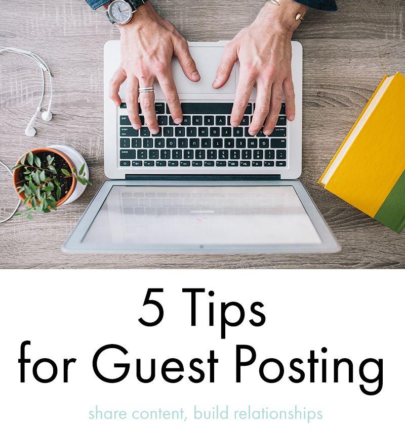 5 Tips for Guest Posting   Bee Splendid