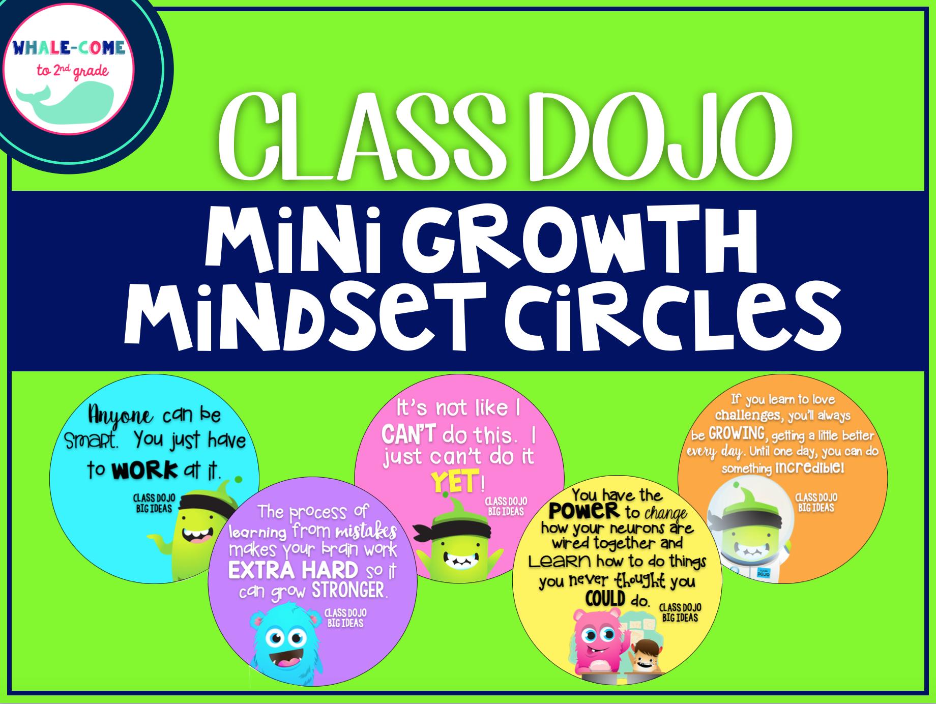 Class Dojo Growth Mindset Circles to