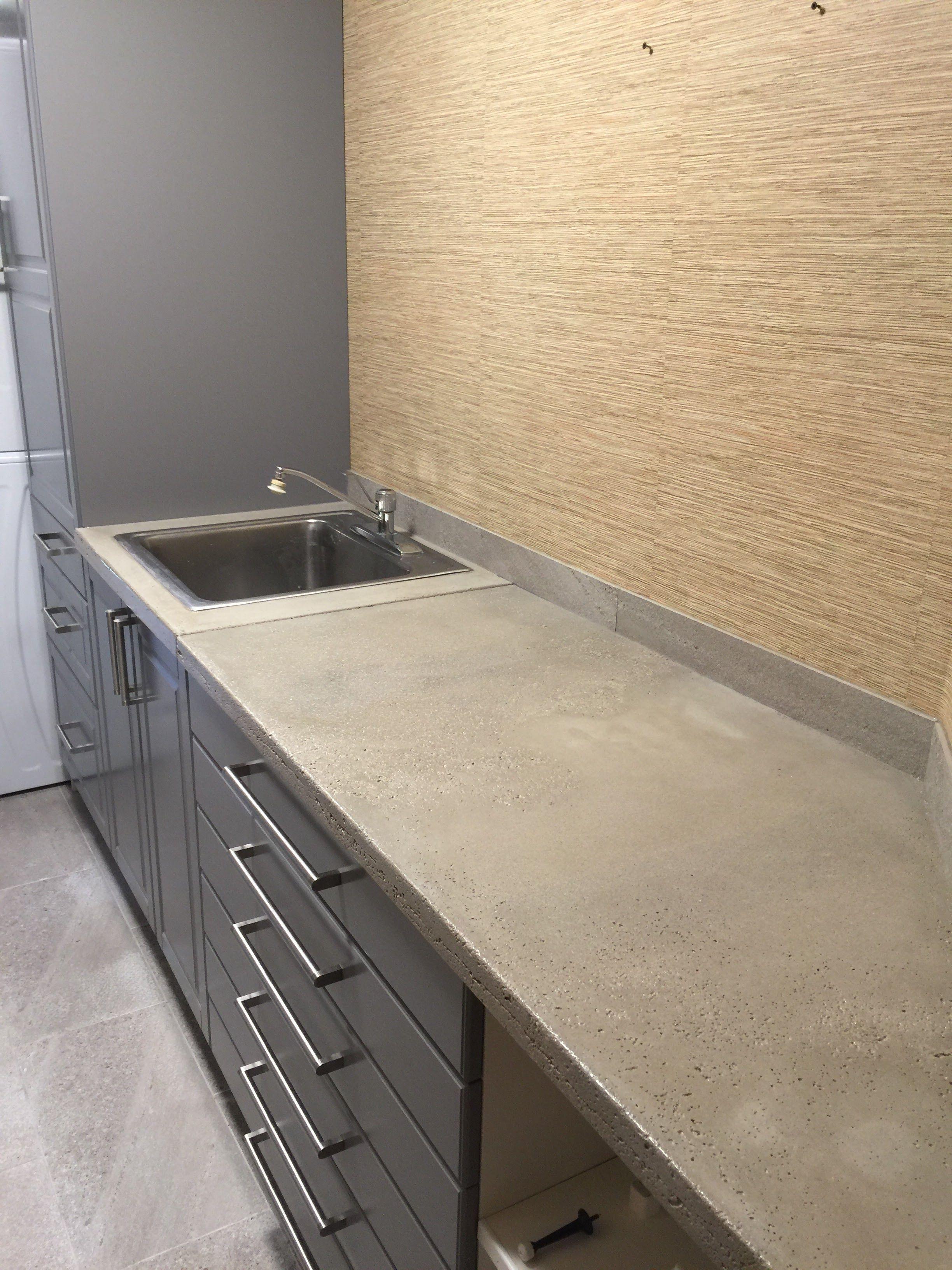Functional Laundry Room Custom Concrete Countertops Laundryroom