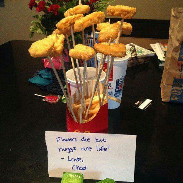 Nugget Gift Ideas Apparel: Chicken Nugget Bouquet