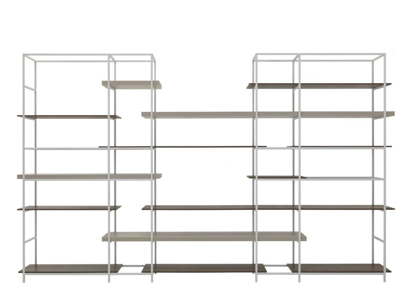 sectional metal shelving plain is a lightweight squared metal structure painted in white. Black Bedroom Furniture Sets. Home Design Ideas