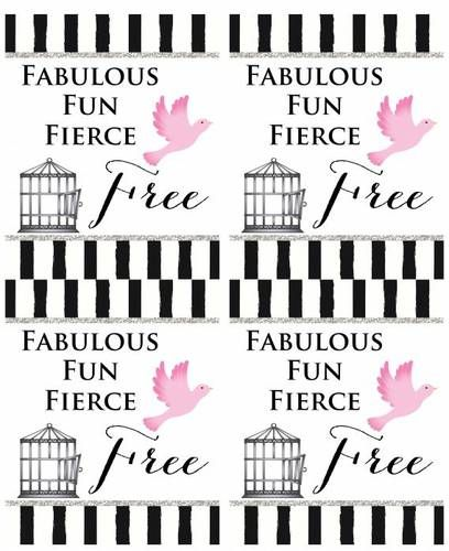 Divorce Party Wine Labels - Fabulous Fun Fierce \ Free - Label - divorce templates