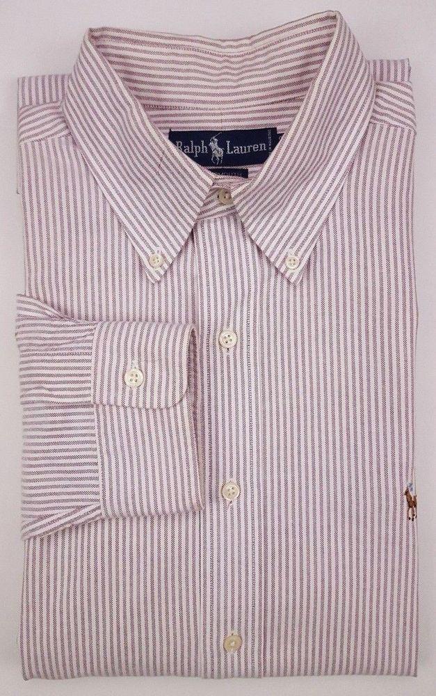 afebeb457 Ralph Lauren 16 33 Shirt Striped Yarmouth Light Purple Rose White  Multicolor Man  RalphLauren  Yarmouth